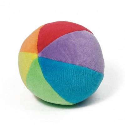 Stoffball mit Rassel