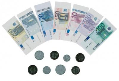 Spielgeld - Scheine & Münzen - 116 Teile