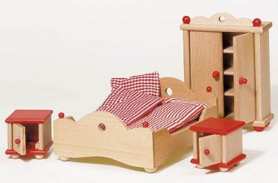 """Puppenhausmöbel """"Schlafzimmer natur"""""""