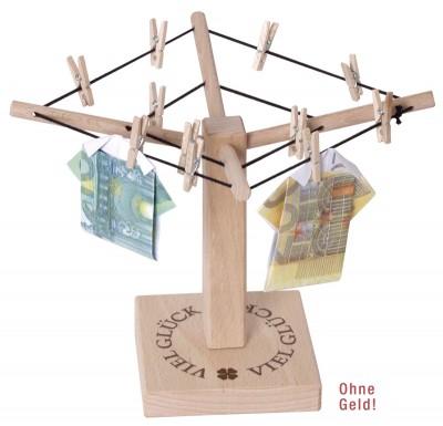 Geld-Wäschespinne