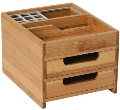 Schreibtischbox Bambus + Alu