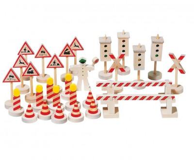 Verkehrszeichen mit Ampeln