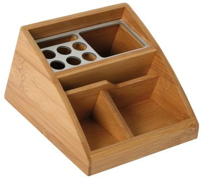 Schreibtischständer Bambus + Alu