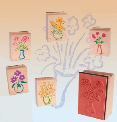 """Stempel-Set """"Blumen"""" 6 Stück XL"""