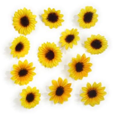 12 Deko-Sonnenblumen