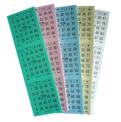 Bingotickets System 25 aus 75