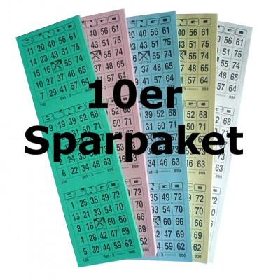 Bingotickets System 25 aus 75 ** 10er Sparpaket **