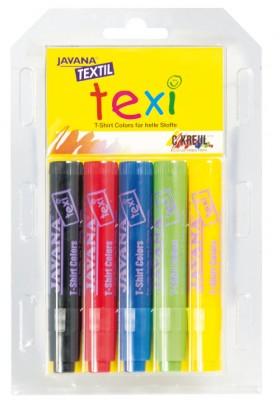 Texi Stoffmalstifte 5er, kleine Hände
