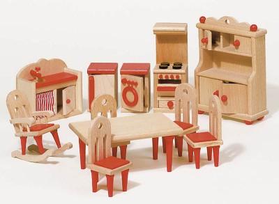 """Puppenhausmöbel """"Küche natur"""""""