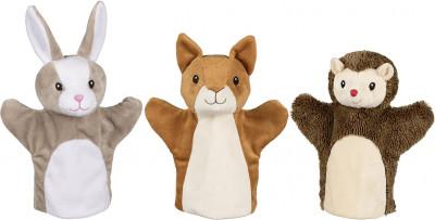 Handpuppen Eichhörnchen, Hase und Igel