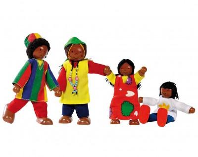 """Biegepuppen """"Afrikanische Familie"""""""