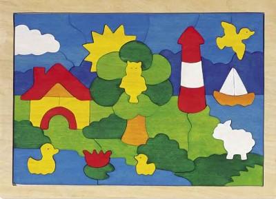 """Einlegepuzzle """"Leuchtturm"""""""