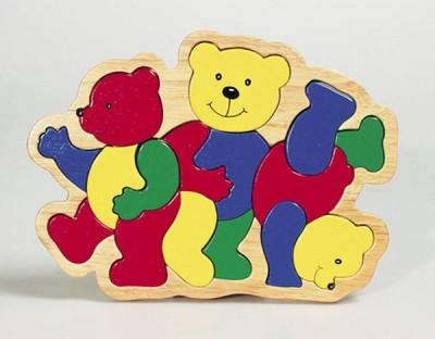 """Einlegepuzzle """"3 Bären"""""""
