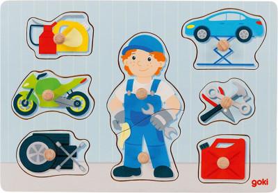 Steckpuzzle Automechaniker
