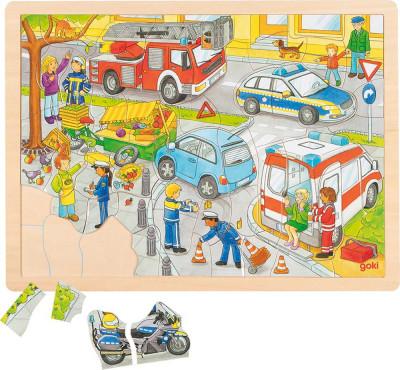 Einlegepuzzle Polizeieinsatz