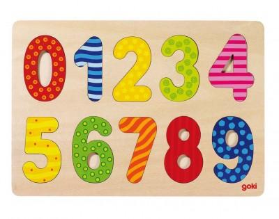 Puzzle Zahlen- bunte Muster