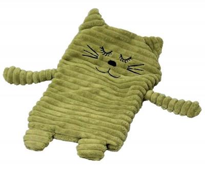 Wärmekissen Katze dunkelgrün