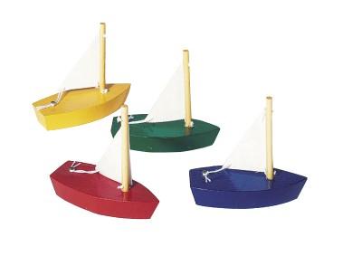 Kleine Segelboote 4er Set