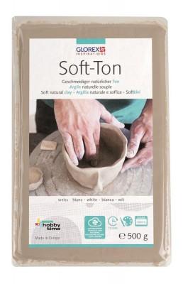 Soft-Ton weiß 500g