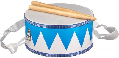 Trommel blau / weiß