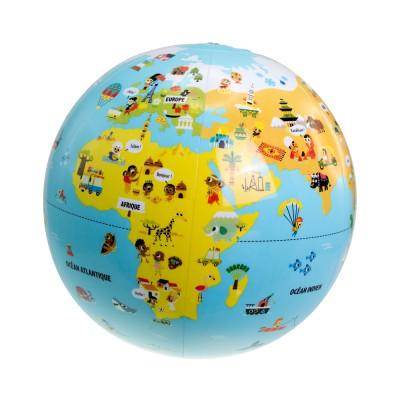 Aufblasbarer Globus - Auf Reisen