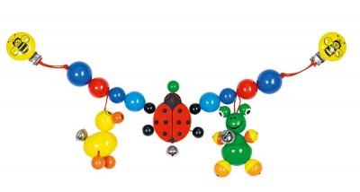"""Kinderwagenkette """"Ente, Marienkäfer, Frosch"""""""