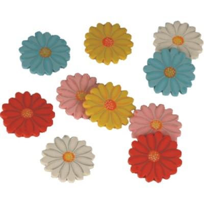 """Geschenk-Dekoration """"Blumen"""" 10 Stück"""