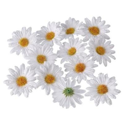 12 Deko-Margeriten-Blüten