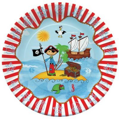 "Pappteller ""Pirate Island"""