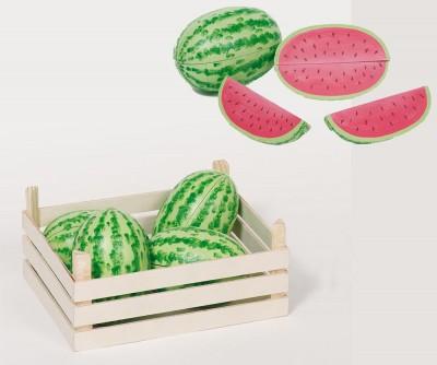 Melonen + Holzkiste