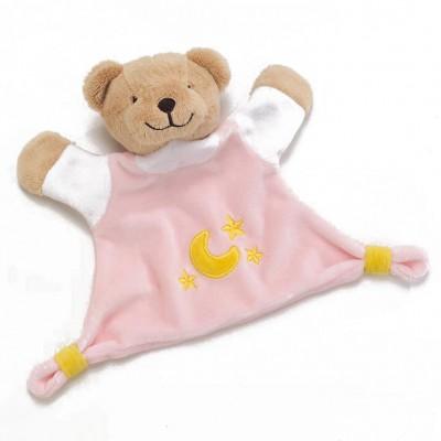 """Kuscheltuch """"Bär"""" rosa"""