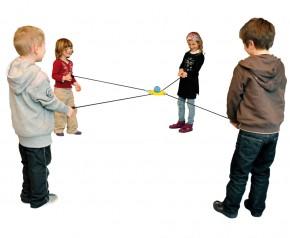 Balancier-Scheibe mit Ball