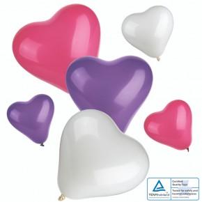 "Luftballons 12 Stk ""Herz"""