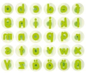 Riesenstempel Kleinbuchstaben