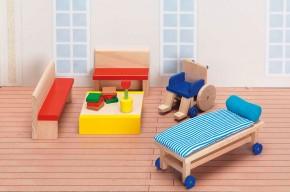 """Puppenhausmöbel Krankenhaus """"Wartezimmer"""""""