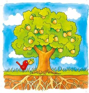 """Schichtenpuzzle """"Der Baum"""""""
