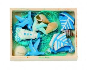 Maritim-Deko mit Holzbox