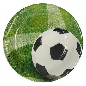 "10 Pappteller ""Fußball"""